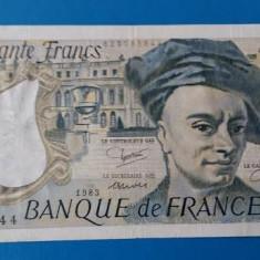FRANTA === BANCNOTA 50 FRANCI 1983