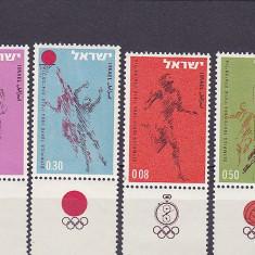 Sport, olimpiada, cu TAPS, Israel. - Timbre straine, Nestampilat