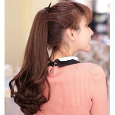 PER58 Coada ponytail, saten roscat, cu fundita atasata - Peruca Dama