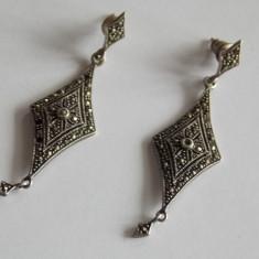 Cercei de argint cu marcasite - 402 - Cercei argint