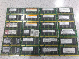 Lot 24 memorii laptop 256Mb ddr 266Mhz , 333Mhz  , se vand la pretul final., 256 MB, 333 mhz, Kingston