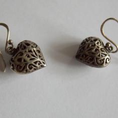 Cercei de argint -inimioare - 348 - Cercei argint