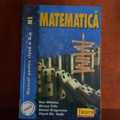 Carte - Manual de matematica pentru clasa a X-a M1 - Dan Mihalca.. an 2000 #301 - Carte Matematica, Teora