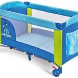Patut pliabil Pisolo Plebani-albastru/verde - Patut pliant bebelusi, 125X65cm
