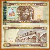 !!! ERITREEA - 10 NAKFA 2012 - P 12 - UNC // MARO IN LOC DE VERDE - bancnota africa
