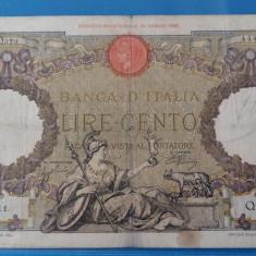 ITALIA  ==== BANCNOTA 100 LIRE 1926