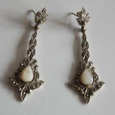 Cercei de argint cu sidef - 386 - Cercei argint