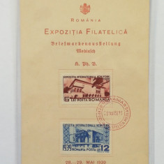 MEDIAS-PLIANT EXPOZITIA FILATELICA MEDIAS 1939