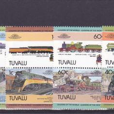 Locomotive, Tuvalu. - Timbre straine, Nestampilat