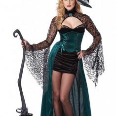 E328 Costum Halloween vrajitoare, Marime: S/M