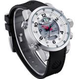 Ceas Weide, Dual Display cu Mecanism Japonez, Rezistent la Apa, Timer, Alarma, etc - Ceas barbatesc, Casual, Quartz, Inox, Cauciuc