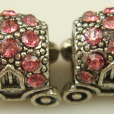 Charm caleasca roz placat argint 925 pandantiv pt bratara PANDORA talisman - Bratara argint