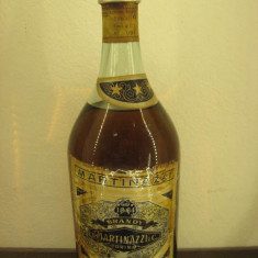 Brandy martinazzi, torino, distillato vini bianchi scelti, l.1 gr. 40 ani1949-58 - Cognac