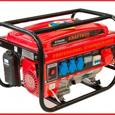 Generator Curent Electric-KRAFTECH-12V/220/380V-3kW-PORNIRE MANUALA, Generatoare uz general