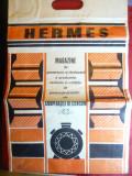 Sacosa din hartie cu reclama magazin comunist Hermes , Bucuresti 35x54 cm