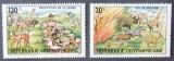 R. CENTRAFRICANA 1983 - FAUNA PROTEJATA, 2 VALORI NEOBLITERATE - E4743