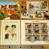 Lot Set Colectie 4 colite CAINI RASE CATEI ANIMALE FAUNA 2+1 gratis RBK19872