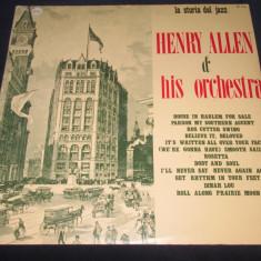 Henry Allen & His Orchestra - Henry Allen & His Orchestra _ vinyl, LP, Italia - Muzica Jazz Altele, VINIL