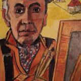 Ion Minoiu - Autoportret la sevalet - Pictor roman, Portrete, Ulei, Altul