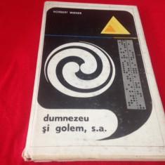 Norbert Wiener, DUMNEZEU ȘI GOLEM, S.A.