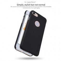 Husa iPhone 7 8 Super Frosted Shield + Folie Protectie by Nillkin Neagra - Husa Telefon Nillkin, Negru, Plastic, Fara snur, Carcasa