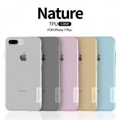 Husa iPhone 7 Plus TPU Nature by Nillkin Pink - Husa Telefon Nillkin, Transparent, Gel TPU, Fara snur, Carcasa