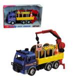 Masina camion cu brat macara - Heavy City Truck 3414638 Dickie - Vehicul