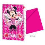 Invitatii petrecere Minnie Mouse - Decoratiuni petreceri copii