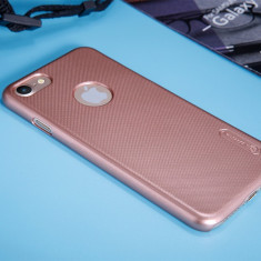 Husa iPhone 7 Super Frosted Shield + Folie Protectie by Nillkin Rose Gold - Husa Telefon Nillkin, Roz, Plastic, Fara snur, Carcasa