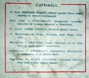 CARTE VECHE - STUDII TEOLOGICE = IANUARIE , FEBRUARIE 1957