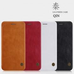 Husa iPhone 7 Plus Qin Leather Case by Nillkin Black - Husa Telefon Nillkin, Negru, Piele Ecologica, Cu clapeta, Toc