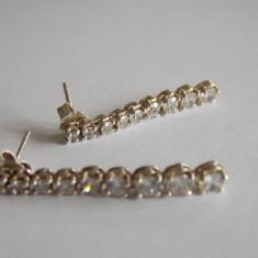 Cercei de argint cu zirconii - 373 - Cercei argint