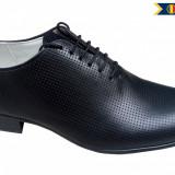 Pantofi negri barbati lux - eleganti din piele naturala - CARLO - Pantof barbat, Marime: 38, 39, 40, 41, 42, 43, 44, Culoare: Bleumarin, Maro, Negru