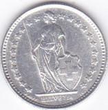 Moneda Elvetia 1/2 Franc 1921 - KM#23 XF (argint 0,835), Europa