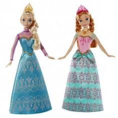 Disney Princess - Set Papusi Frozen Anna si Elsa BDK37 Mattel - Papusa Mattel, 4-6 ani, Plastic, Fata