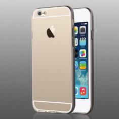 Carcasa protectie spate cu rama pentru Iphone 6 / 6S, neagra - Husa Telefon Usams
