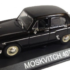 LOT 12 - Machete Moskvitch 407 + Wolga GAZ M-22 scara 1:43 - Macheta auto