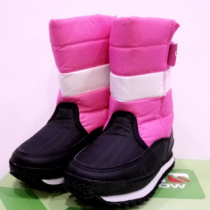 Cizme de iarna pentru copii Campri snow. Pe roz si pe albastru - Cizme copii Campri, Marime: 31, 32, 33, Unisex, Textil