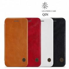 Husa iPhone 7 Qin Leather Case by Nillkin Black - Husa Telefon Nillkin, Negru, Piele Ecologica, Cu clapeta, Toc