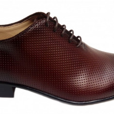 Pantofi barbati lux - eleganti din piele naturala maro - cod 026M - Pantof barbat, Marime: 38, 39, 40, 41, 42, 43, 44