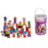 Cuburi si forme multicolore din lemn - 100 piese 002228 Eichhorn