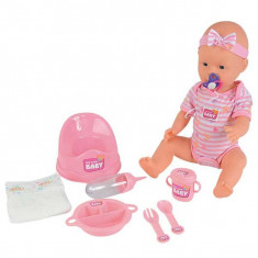 Papusa New Born Baby Wet and Dry bea si face pipi 5039005 Simba, 4-6 ani, Plastic, Fata