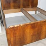 Cadru de pat din lemn masiv 200X195 cm; Suport pat dublu