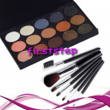 Oferta trusa machiaj 15 culori MAC paleta farduri + set 7 pensule make up Megaga, Mac Cosmetics