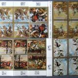PANAMA - PICTURA CAI, VANATOARE, 6 VALORI IN BLOC OBLITERATE - EO 528A