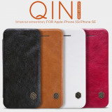 Husa iPhone 5 5S SE Qin Leather by Nillkin Red
