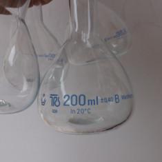 Recipiente din sticla(4 buc.)Germane, pentru laboratoare de chimie.