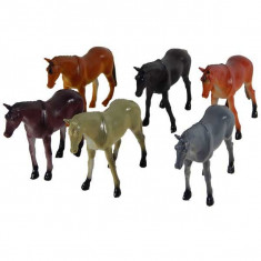 Set animale domestice 6 cai din plastic