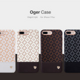 Husa iPhone 7 Plus Oger Case by Nillkin White, iPhone 7/8 Plus, Alb, Piele Ecologica