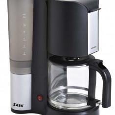 Cafetiera Zass ZCM 06, 900W, 1.2 litri, negru/argintiu, 10-12 Cesti
